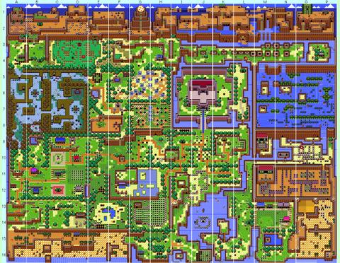 ゼルダの伝説夢をみる島 全体Map