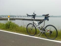 北浦大橋へ