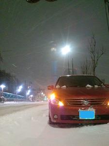 雪とスカイツリー