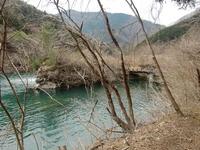 弓道の橋の跡と謎の流水