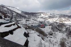 丸山スキー場を望む