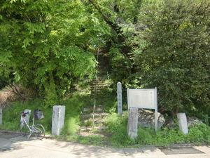 銚子塚後円部入口
