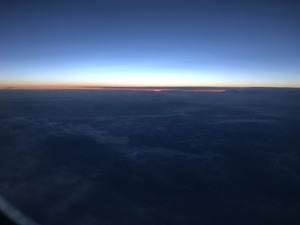 雲海の日没