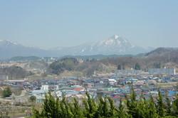 大塚山より磐梯山を望む