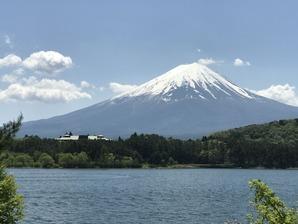 河口湖北岸から望む富士