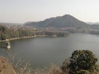 城山と津久井湖