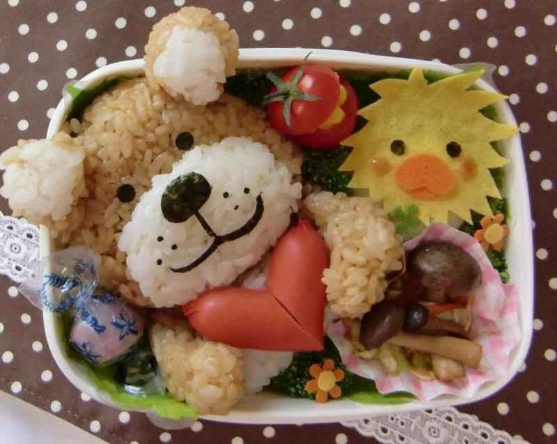 bento box recipes cute teddy bear bento box recipe. Black Bedroom Furniture Sets. Home Design Ideas