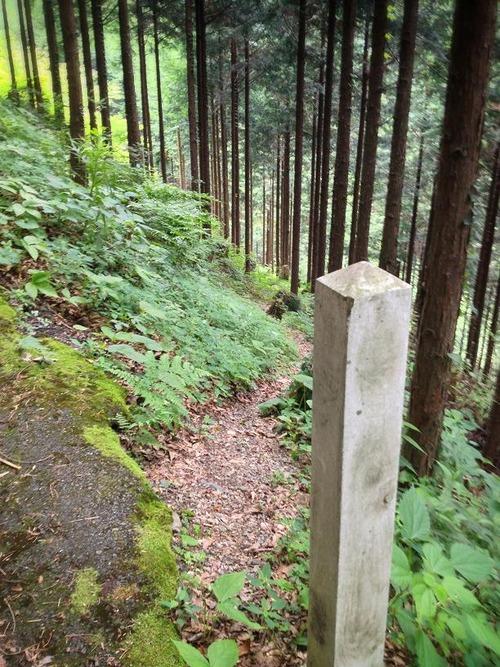 羅漢穴への道…