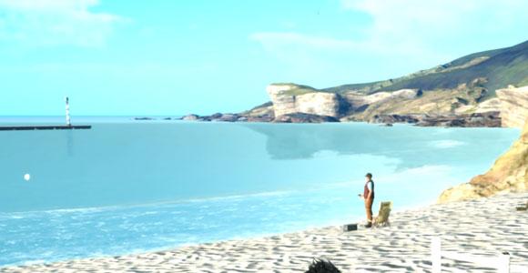 FF15「ファイナルファンタジーXV」のサブクエスト「太公望の悪魔退治」紹介。リード地方のヴァンナス海岸で発生するネイヴィスシリーズ4つめ。釣りレベル上げの