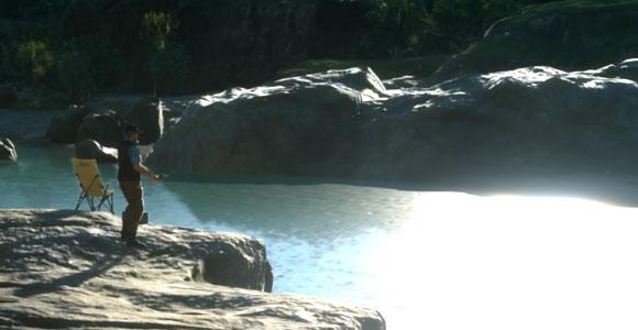 FF15「ファイナルファンタジーXV」のサブクエスト「一竿風月」紹介。クレイン地方のウェナス川で発生するネイヴィスシリーズ2つめ。釣りレベル上げのついでに、目的の