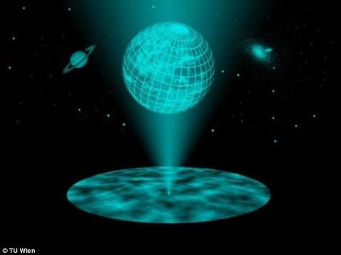 われわれの宇宙は二次元平面から投影されたホログラムである可能性