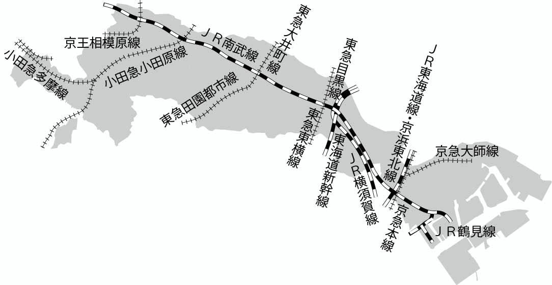川崎市バス:路線図 -