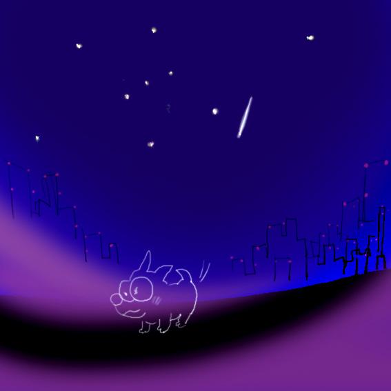オリオン座流星群のよる