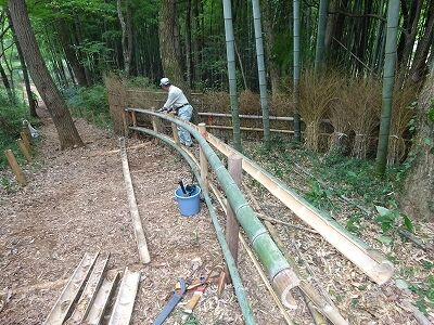 ビーナスラインの竹垣