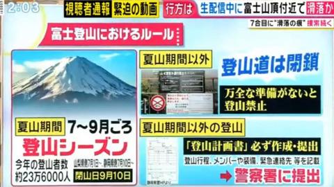 富士山の滑落ニコ生配信者 (2)