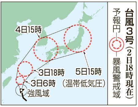 台風3号3