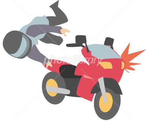 新宿区でバイク転倒 (2)