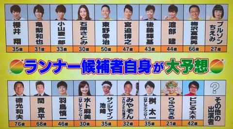 24時間テレビ2019マラソンランナー (1)
