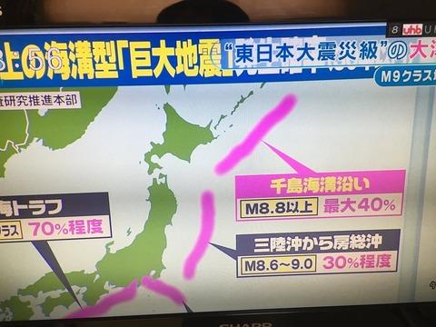 超巨大地震 北海道沖2