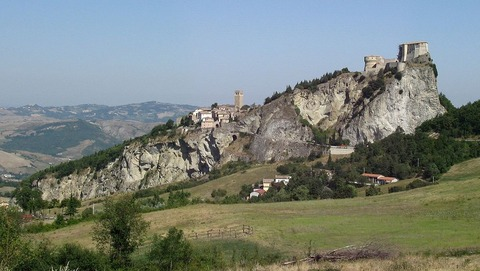 イタリア中部のマルケ地方のサンレオ。