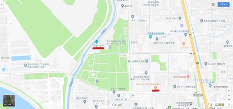 千里川土手とチョコブラ地図