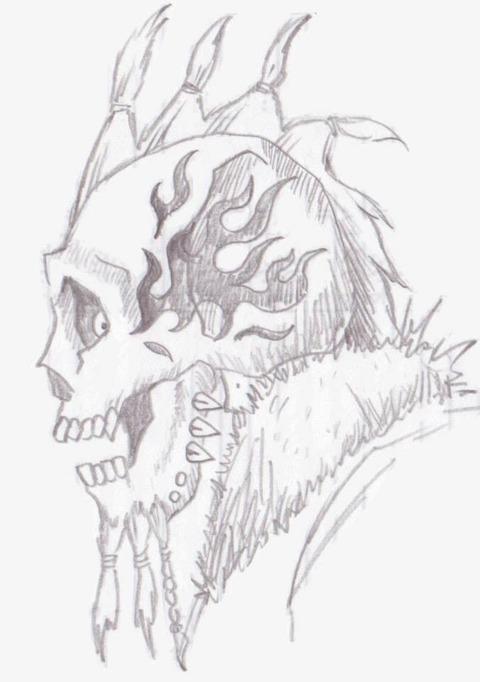 ラクガキ_骸骨