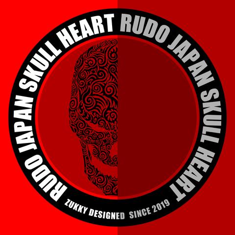 TシャツデザインRUDO JAPAN SKULL HEART