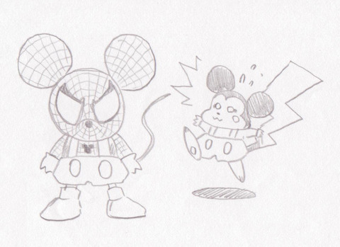 ラクガキ-スパイディマウス