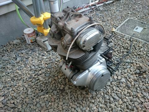 CB250エンジン
