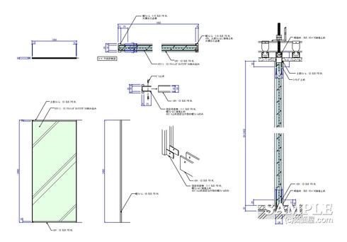ガラススクリーン詳細図1 v2016