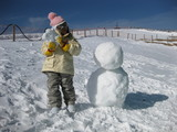 娘&雪だるま