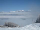 雲海上の八ヶ岳