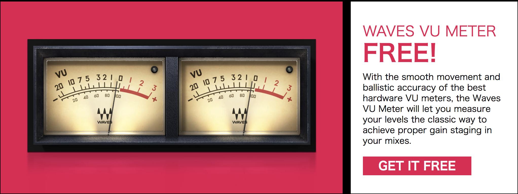 無料】WavesからブラックフライデーによりVU Meterが無償配布