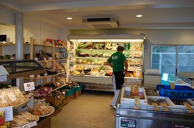 野菜コーナーと漁師市場
