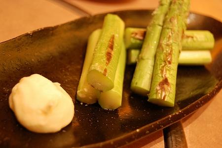 会津のアスパラ焼