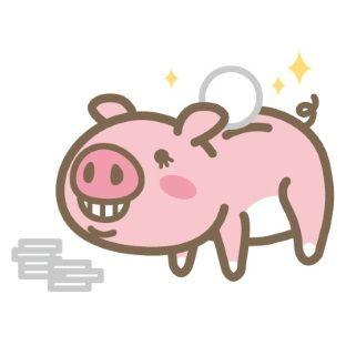 豚の貯金箱(イラスト)