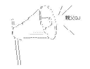 メガホン AA(アスキーアート)