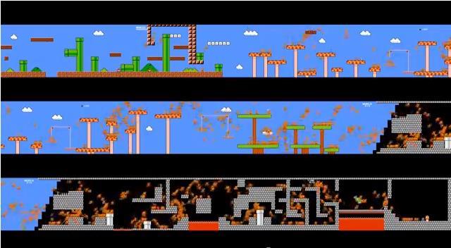 【マジキチ】一つの画面で、974人が一斉に「スーパーマリオブラザーズ」をプレイするとこうなるwww