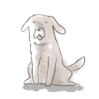 迷い犬イラスト