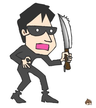 ピンポンがなって国税調査の者ですって言うから、ドア開けたら強盗に押し入られた