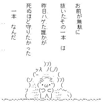 ハゲた AA(アスキーアート)