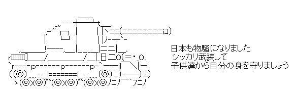 戦車 AA(アスキーアート)