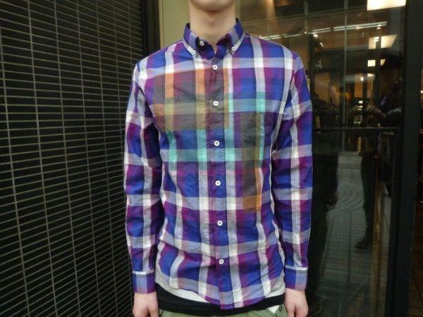 お気に入りのチェックシャツ