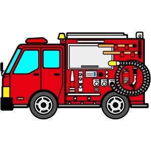消防車(イラスト)