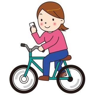 スマホをいじっていて前を見ていない女性が自転車で突っ込んできた