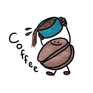 お店のカウンターにある飾りのコーヒー豆を勝手に食った迷惑客