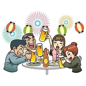 ファミレスで酒盛りのような感じで大声で騒ぐ迷惑家族グループ。