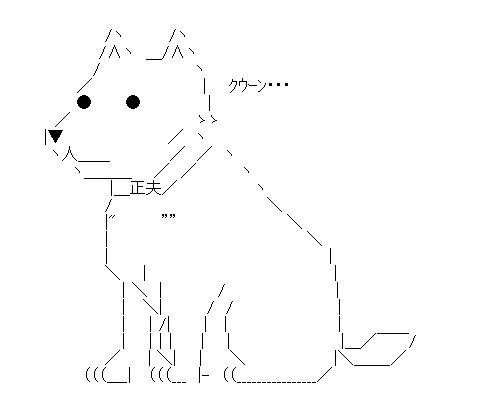 犬 アスキーアート