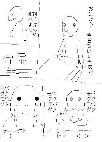 パクパクモグモグ AA(アスキーアート)