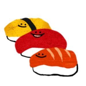 カワイイお寿司 無料素材(イラスト)